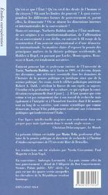 L'Etat et la démocratie ; édition 2002 - 4ème de couverture - Format classique