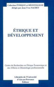 Ethique et developpement - Couverture - Format classique