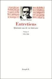 Entretiens T.1 ; 1956-1968 - Couverture - Format classique