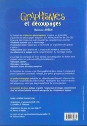 Graphismes et découpages ; CP/CE - 4ème de couverture - Format classique