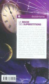 La magie des superstitions - 4ème de couverture - Format classique