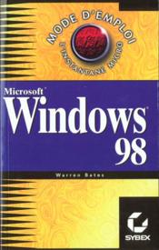 Windows 98 mode d'emploi - Couverture - Format classique
