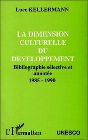 La dimension culturelle du développement - Intérieur - Format classique
