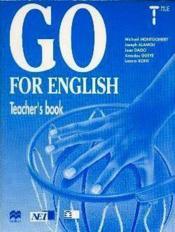 Go For English Terminale / Livre Du Professeur (Afrique De L'Ouest) - Couverture - Format classique