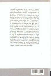 Phenomenologie En Esquisses - 4ème de couverture - Format classique