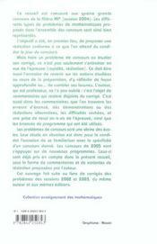 Ecrits Des Concours 2004 ; X Mines-Ponts, Centrale Ccp ; Mp - 4ème de couverture - Format classique