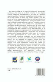 <I>Amoenitas Vrbivm</I>. Les Agrements De La Vie Urbaine En Gaule Rom Aine Et Dans Les Regions Voisi - 4ème de couverture - Format classique