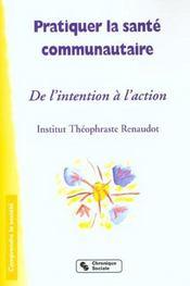Pratiquer La Sante Communautaire - Intérieur - Format classique