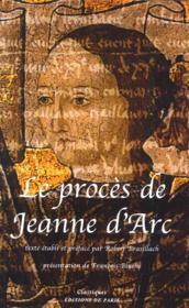 Le procès de Jeanne d'Arc - Couverture - Format classique