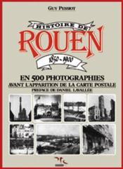 Histoire de rouen 1850-1900 - t.1 - Couverture - Format classique