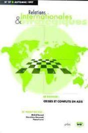 Crises et conflits en asie. relations internationales et strategiques n 27-1997 - Couverture - Format classique