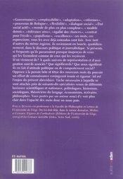 Les nouveaux mots du pouvoir ; abécédaire critique - 4ème de couverture - Format classique