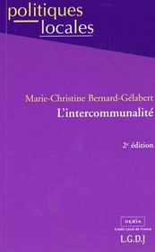 Vente livre :  Intercommunalite  - Bernard-Gelabert Mar