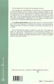 Au Centre Des Villes ; Dynamiques Et Recompositions - 4ème de couverture - Format classique
