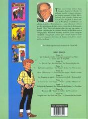 Chick Bill ; intégrale t.9 - 4ème de couverture - Format classique