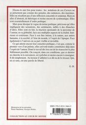 Le nommade immobile ; carnets 2000 - 4ème de couverture - Format classique