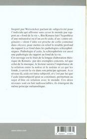 Entre. Approche Phenomenologique De La Schizophrenie - 4ème de couverture - Format classique