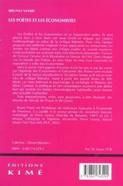 Poetes et les economistes (les) - 4ème de couverture - Format classique