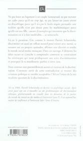 Les Pieges De La Discrimination - 4ème de couverture - Format classique