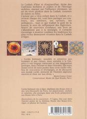 La casbah d'alger : ou l'art de vivre des algeriennes - 4ème de couverture - Format classique