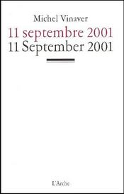 11 septembre 2001 ; 11 september 2001 - Couverture - Format classique