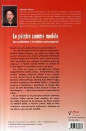 Le peintre comme modèle ; du surréalisme à l'extrême contemporain - 4ème de couverture - Format classique