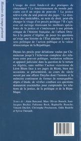 Justice, politique et republique ; de l'affaire dreyfus a la guerre d'algerie - 4ème de couverture - Format classique
