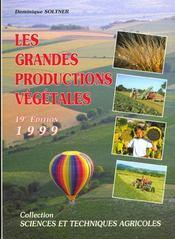 Les grandes productions végétales - Intérieur - Format classique