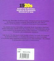 Decennies Du Xx Siecle ; 1920 - 4ème de couverture - Format classique