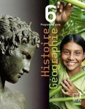 Histoire-géographie ; 6ème ; programme 2009 - Couverture - Format classique
