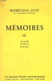 Memoires. Tome 1 : Alger, Tunis Et Rome. - Couverture - Format classique