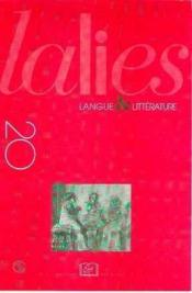 Revue Lalies N.20 ; Lalies T.20 - Couverture - Format classique