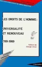 Les droits de l'homme : universalité et renouveau (1789-1989) - Couverture - Format classique