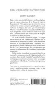 Le Petit Gaulliste - 4ème de couverture - Format classique