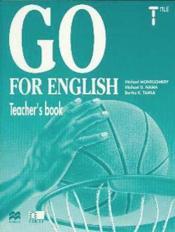 Go For English Terminale / Livre Du Professeur (Afrique Centrale) - Couverture - Format classique