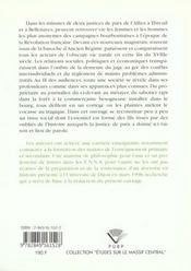 Societe Rurale Et Justice De Paix. Deux Cantons De L'Allier En Revolu Tion - 4ème de couverture - Format classique