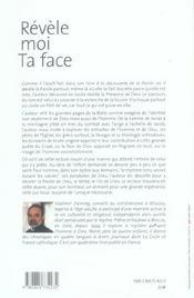 Revele Moi Ta Face - 4ème de couverture - Format classique