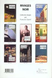 Revue Temps Noir N.3 - 4ème de couverture - Format classique