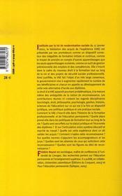 La Validation Des Acquis De L'Experience : La Reconnaissance D'Un Nouveau Droit - 4ème de couverture - Format classique