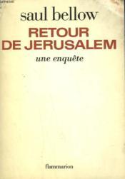 Retour De Jerusalem. Une Enquete. - Couverture - Format classique