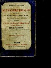 Dictionnaire Francais Augmente D'Environ Vingt Mille Mots - Couverture - Format classique