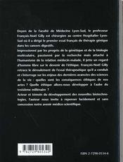 Ethique Et Genetique - 4ème de couverture - Format classique