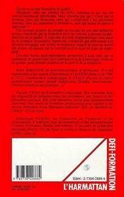 Pour Apprecier La Qualite De La Formation - 4ème de couverture - Format classique
