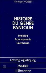 Histoire du genre pantoun ; malaisie francophonie universalie - Intérieur - Format classique