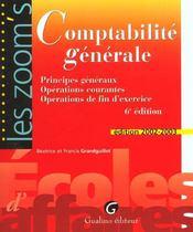 Zoom'S Comptabilite Generale - Intérieur - Format classique