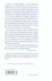 Annales des olympiades internationales de mathematiques ; 1976-2005 - 4ème de couverture - Format classique