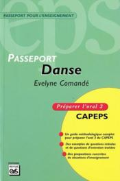 Danse ; préparer l'oral 3 CAPEPS - Couverture - Format classique