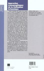 Approches Iconographiques De La Civilisation Britannique - 4ème de couverture - Format classique