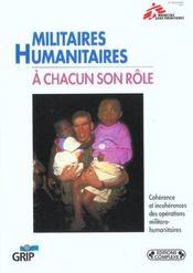 Militaires - Humanitaires - Intérieur - Format classique