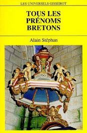 Tous les prénoms bretons - Couverture - Format classique
